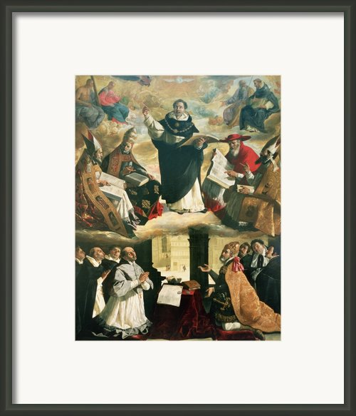 The Apotheosis Of Saint Thomas Aquinas Framed Print By Francisco De Zurbaran