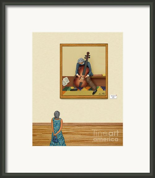 The Art Critic 2 Framed Print By Anne Klar