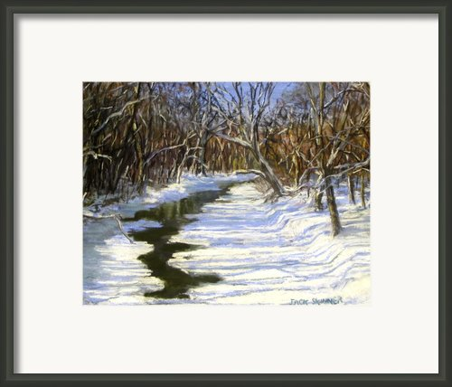 The Assabet River In Winter Framed Print By Jack Skinner