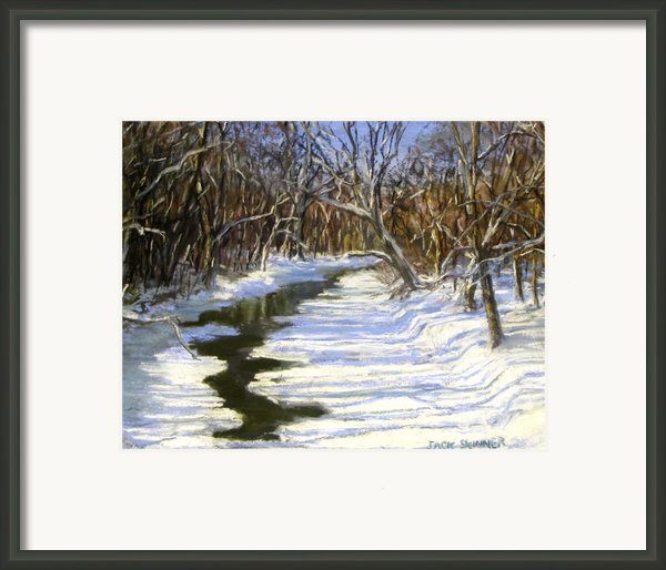 The Assabet River In Winter Framed Print By Jack Skinner