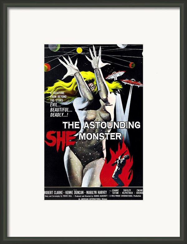The Astounding She-monster, 1-sheet Framed Print By Everett