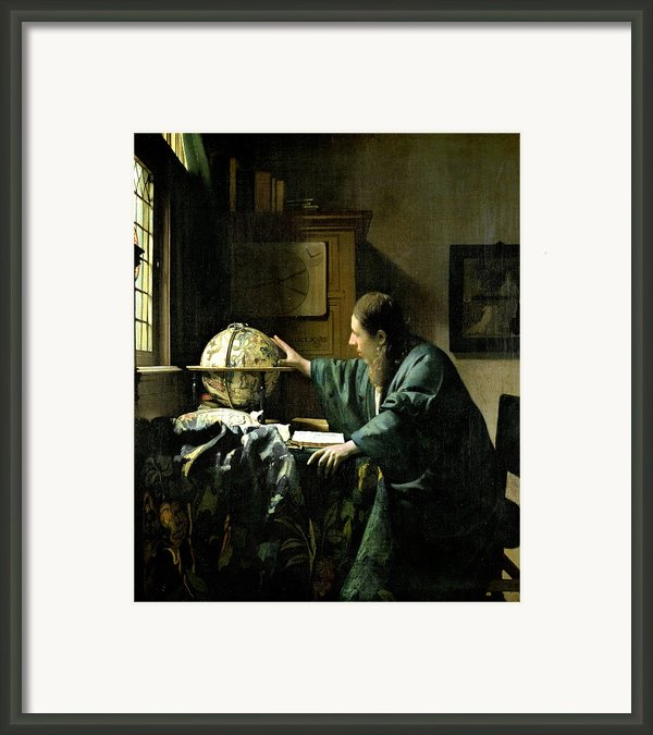The Astronomer Framed Print By Jan Vermeer