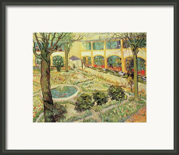 The Asylum Garden At Arles Framed Print By Vincent Van Gogh