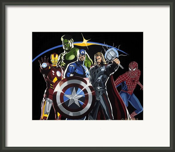 The Avengers Framed Print By Darrell Hopkins