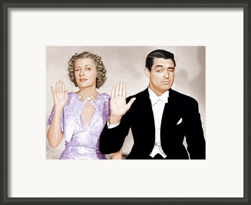 The Awful Truth, From Left Irene Dunne Framed Print By Everett