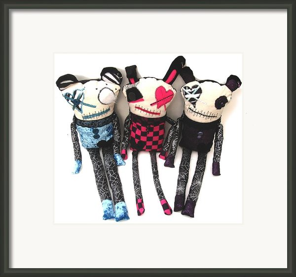 The Ax Trio Framed Print By Oddball Art Co By Lizzy Love