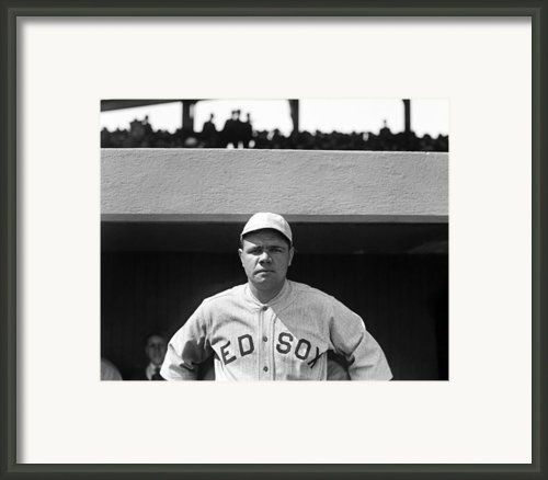 The Babe - Red Sox Framed Print By International  Images