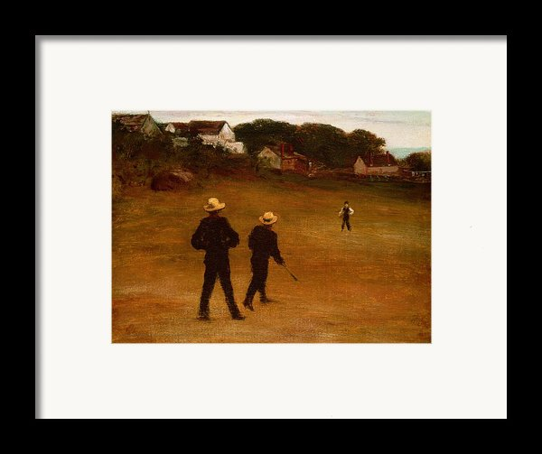 The Ball Players Framed Print By William Morris Hunt