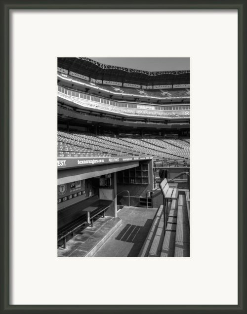 The Ballpark In Arlington Framed Print By Ricky Barnard