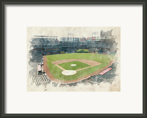 The Ballpark Framed Print By Ricky Barnard