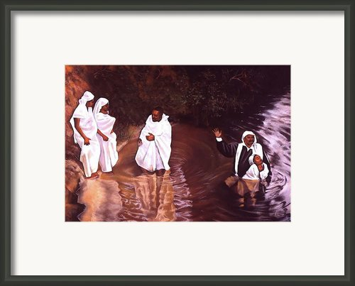 The Baptism Framed Print By Curtis James