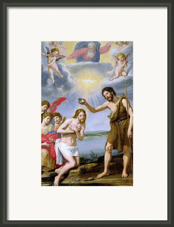 The Baptism Of Christ Framed Print By Ottavio Vannini