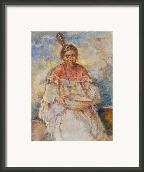The Basket Maker Framed Print By Ellen Dreibelbis