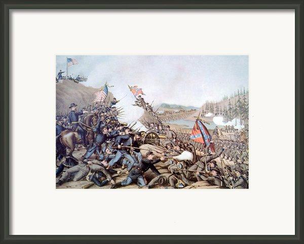 The Battle Of Franklin, November 30 Framed Print By Everett