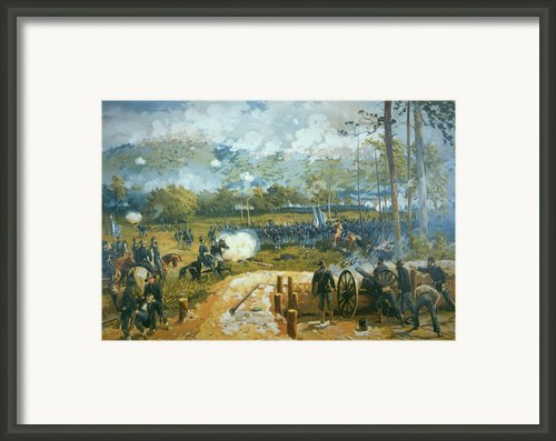 The Battle Of Kenesaw Mountain Framed Print By American School