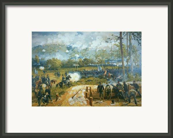 The Battle Of Kenesaw Mountain Framed Print By American School