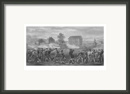 The Battle Of Lexington Framed Print By War Is Hell Store