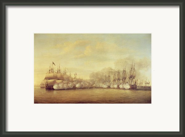 The Battle Of Negapatam Framed Print By Dominic Serres