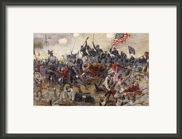 The Battle Of Spotsylvania Framed Print By Henry Alexander Ogden