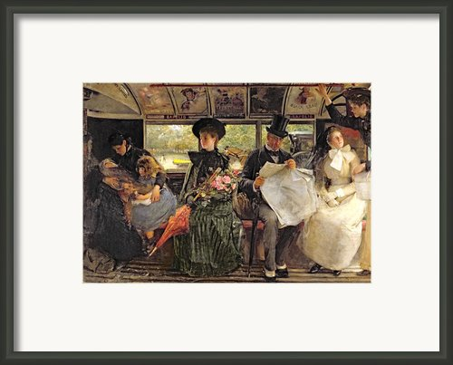 The Bayswater Omnibus Framed Print By George William Joy