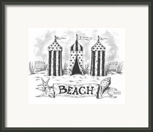 The Beach Framed Print By Adam Zebediah Joseph