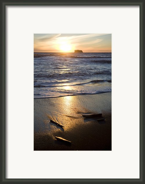The Beach At Sunset In Olympic National Framed Print By Taylor S. Kennedy