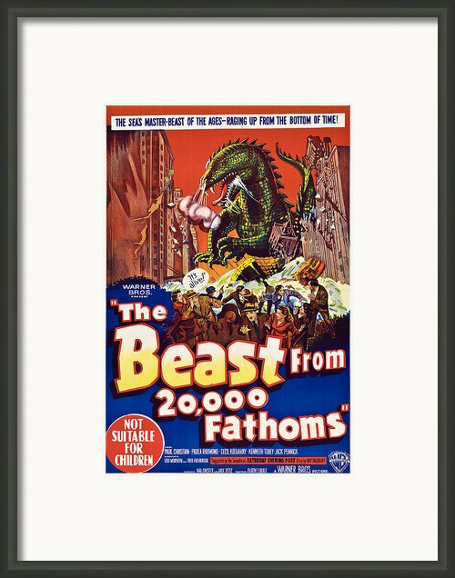 The Beast From 20,000 Fathoms Framed Print By Everett
