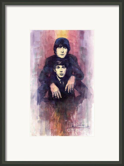 The Beatles John Lennon And Paul Mccartney Framed Print By Yuriy  Shevchuk