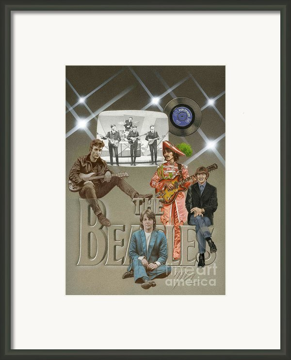 The Beatles Framed Print By Marshall Robinson