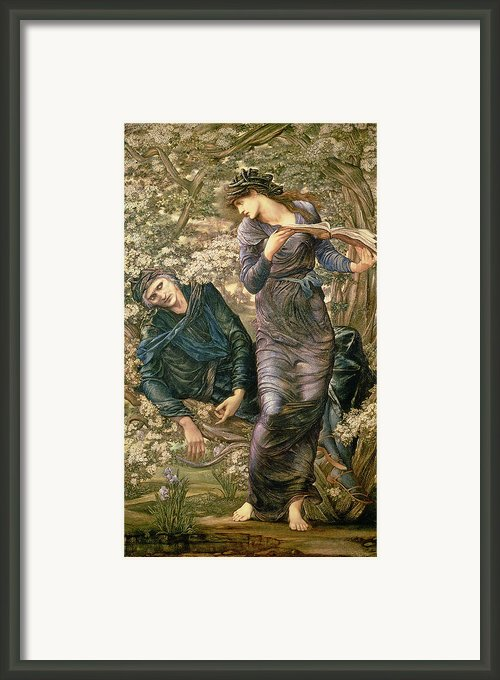 The Beguiling Of Merlin Framed Print By Sir Edward Burne-jones