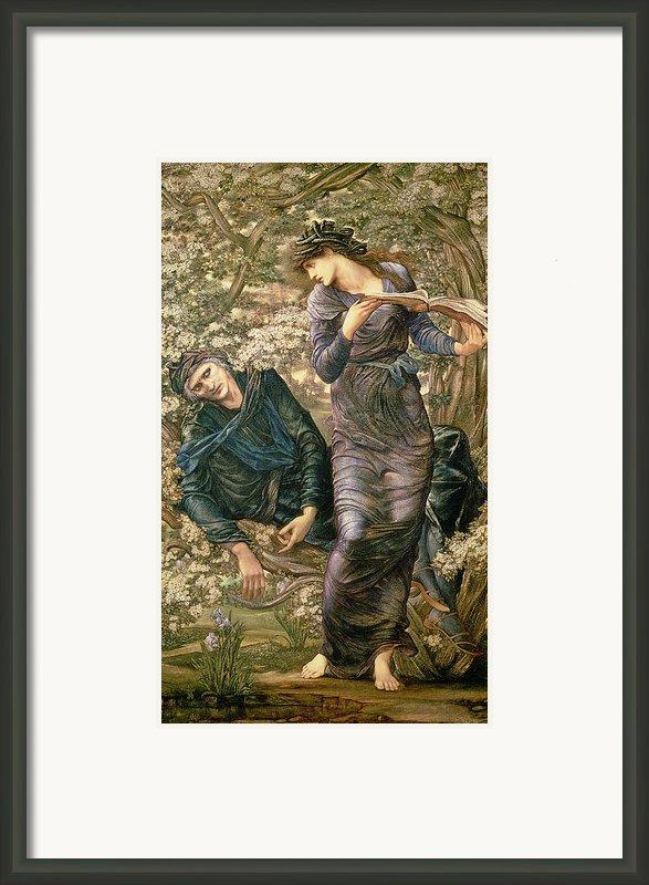 The Beguiling Of Merlin Framed Print By Sir Edward Burne-jones