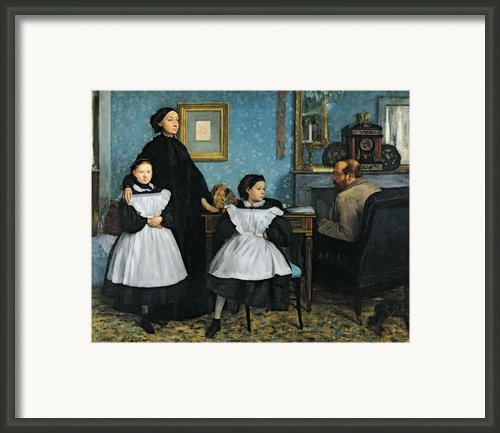 The Bellelli Family Framed Print By Edgar Degas