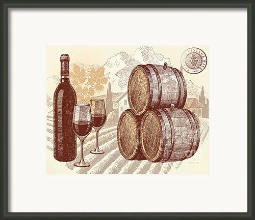 The Best Vintage Wine Framed Print By Cheryl Young
