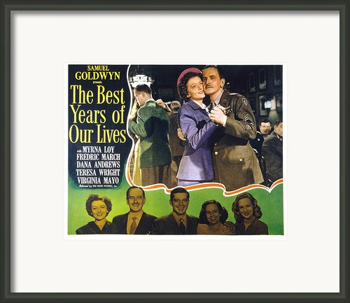 The Best Years Of Our Lives, Myrna Loy Framed Print By Everett