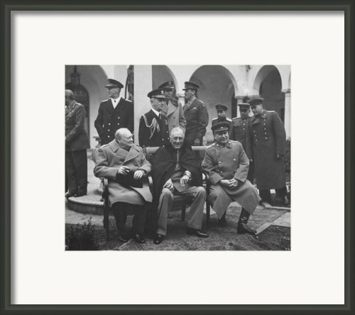 The Big Three  Framed Print By War Is Hell Store
