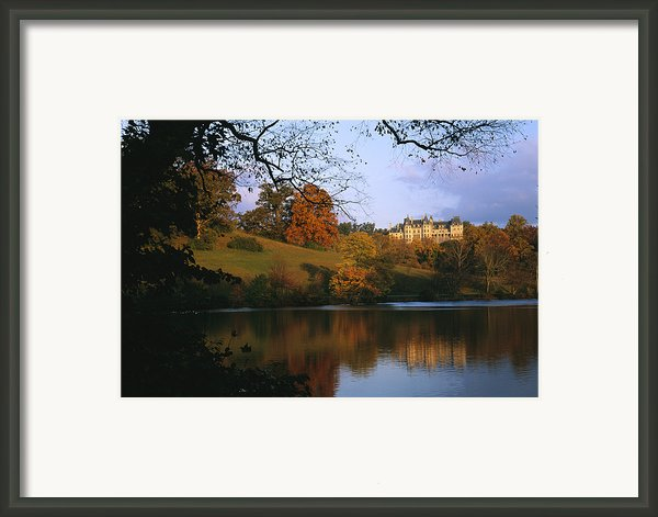 The Biltmore Estate Is Reflected Framed Print By Melissa Farlow