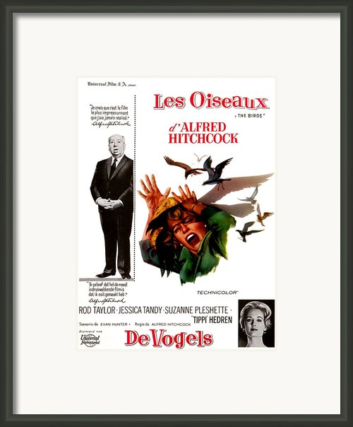 The Birds, Aka Alfred Hitchcocks The Framed Print By Everett
