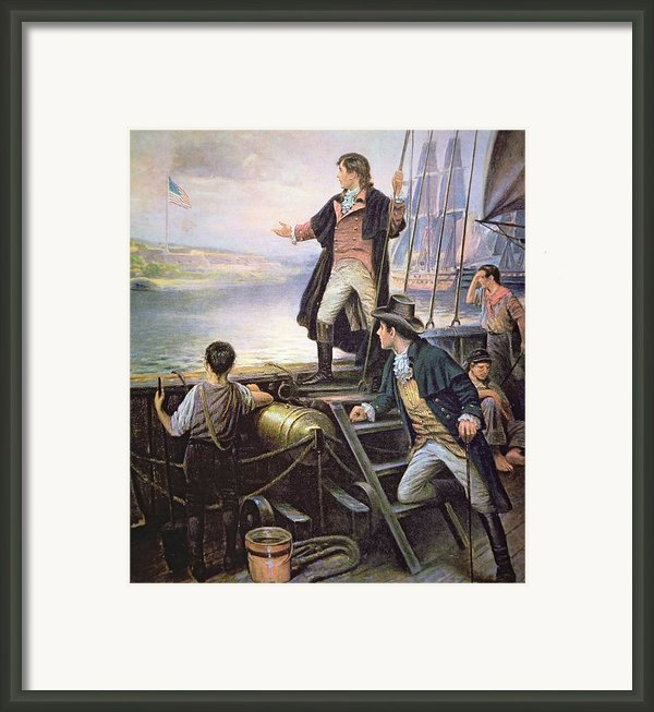 The Birth Of The Us National Anthem Framed Print By American School