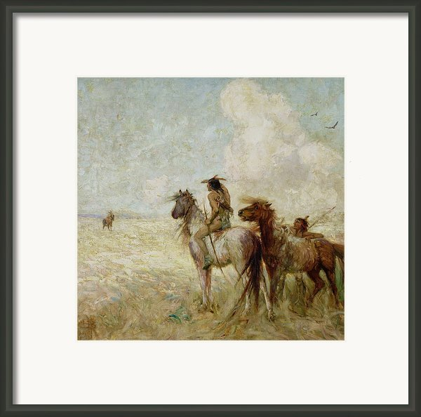 The Bison Hunters Framed Print By Nathaniel Hughes John Baird