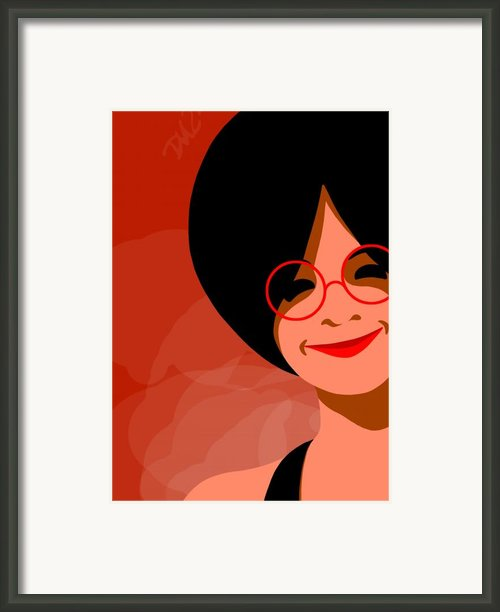 The Black Dress Framed Print By Tom Dickson