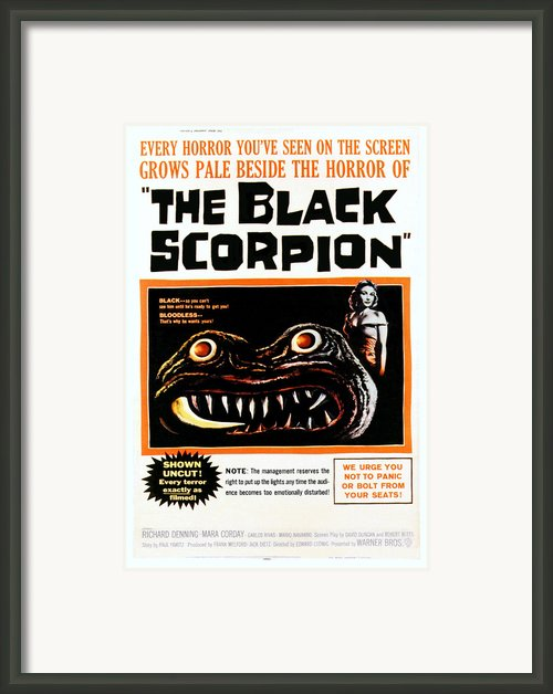 The Black Scorpion, Right Mara Corday Framed Print By Everett