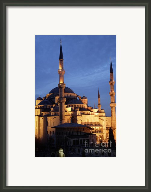 The Blue Mosque Istanbul Framed Print By Steve Outram