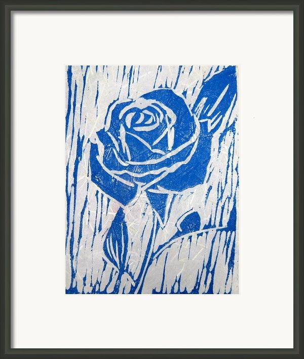 The Blue Rose Framed Print By Marita Mcveigh