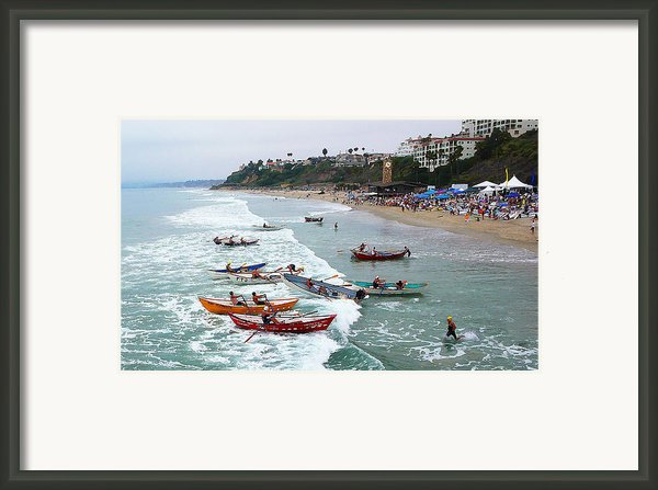 The Boat Race Framed Print By Ron Regalado