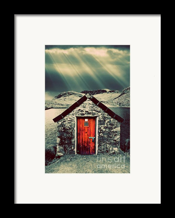 The Boathouse Framed Print By Meirion Matthias
