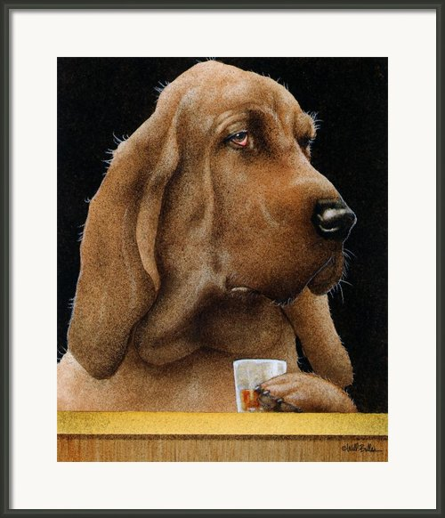 The Boozehound... Framed Print By Will Bullas