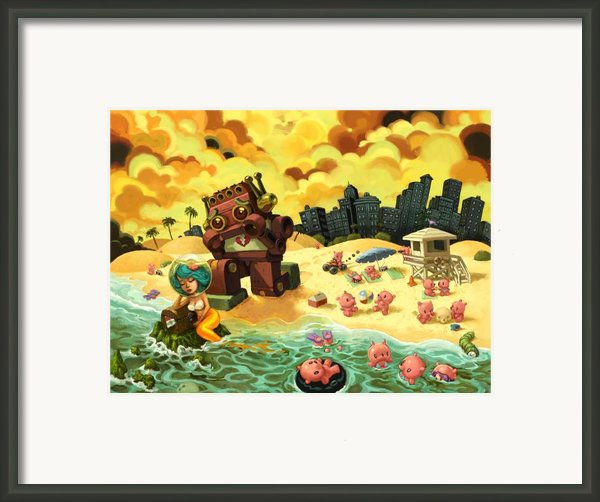 The Break-up Framed Print By Luis Diaz