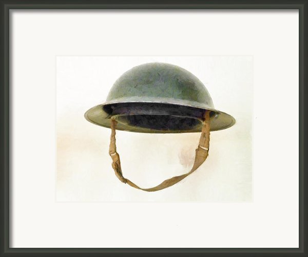 The British Brodie Helmet  Framed Print By Steve Taylor