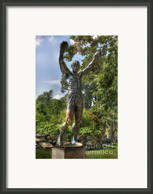 The Bronze Stallion Ii - Rocky Balboa - Philadelphia - Pennsylvania - Rocky Steps Framed Print By Lee Dos Santos