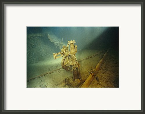 The Bronze Telemotor On The Bridge Framed Print By Emory Kristof